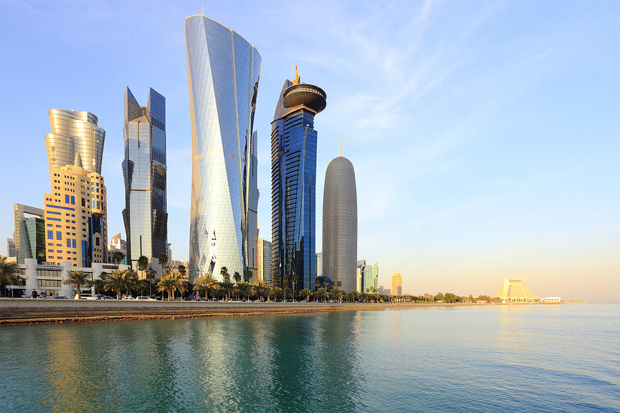 Doha Bay towers by Paul Cowan