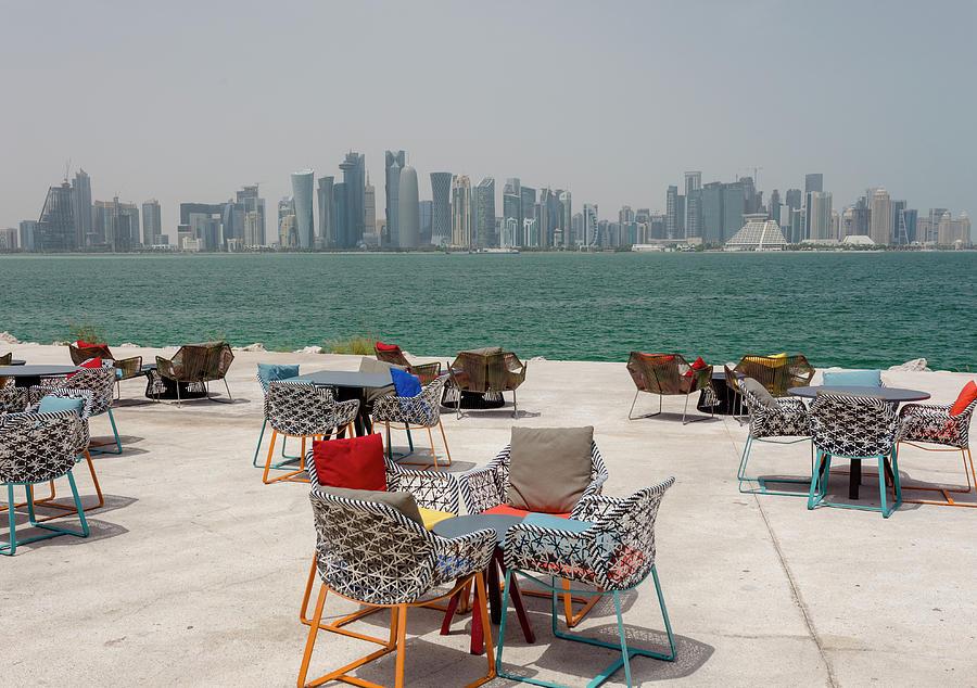 Doha park view by Paul Cowan