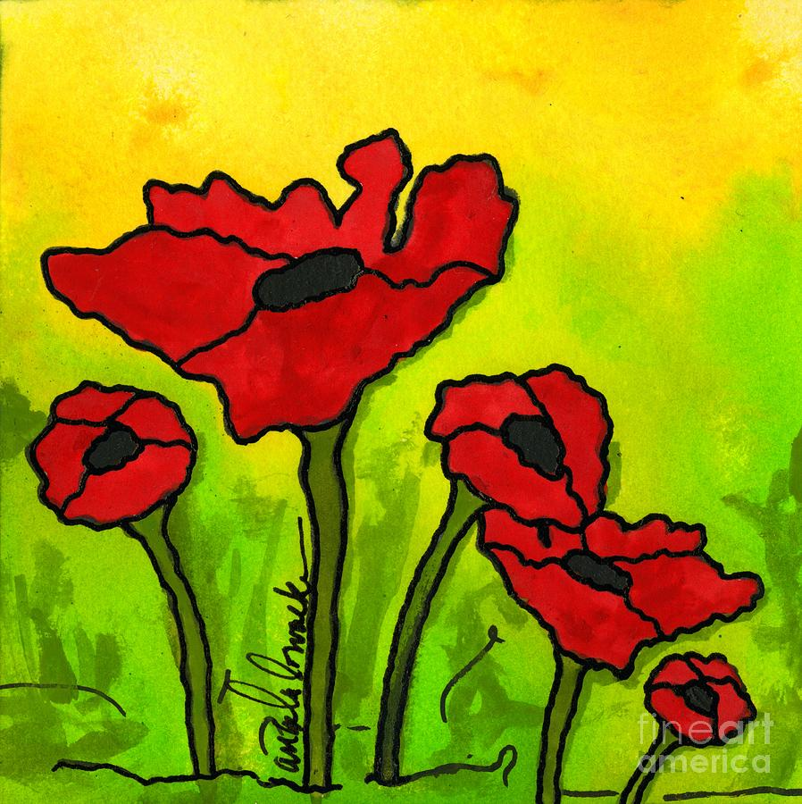 Doing The Poppy Shuffle Painting