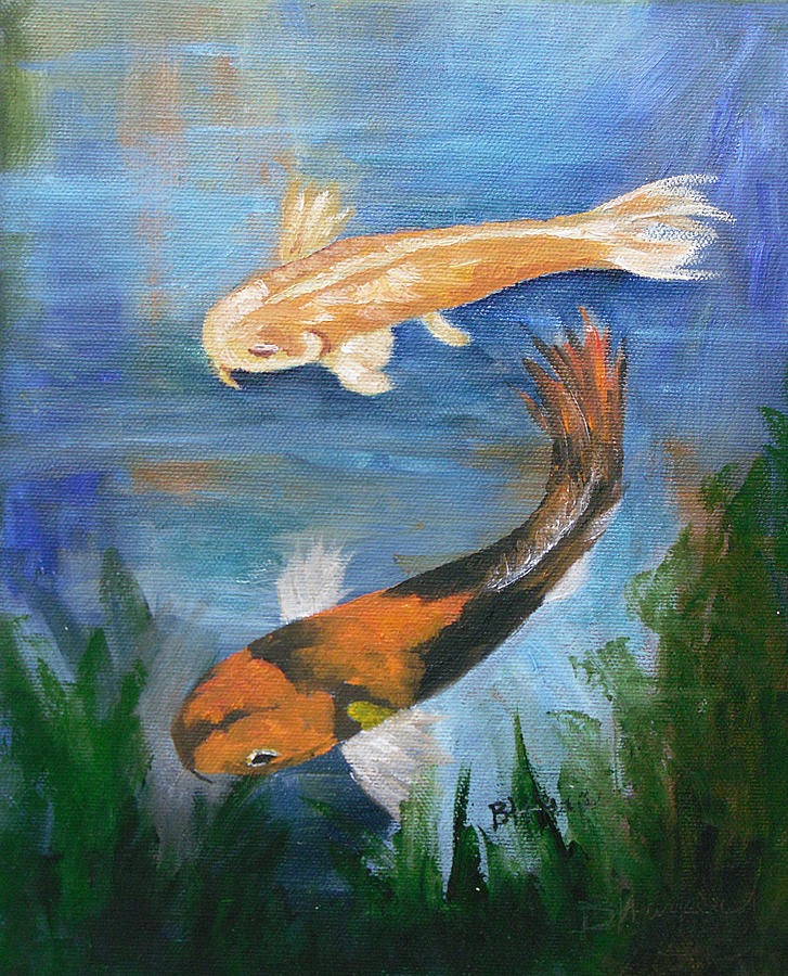 Koi Painting - Doitsu And Utsuri Koi by Barbara Harper