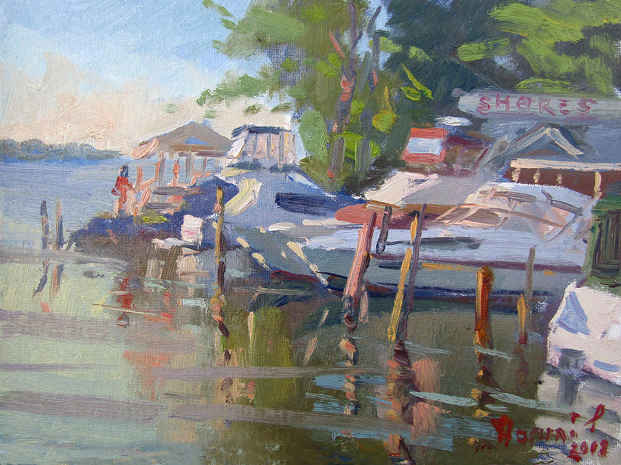 Dock Painting - Docks At The Shores  by Ylli Haruni