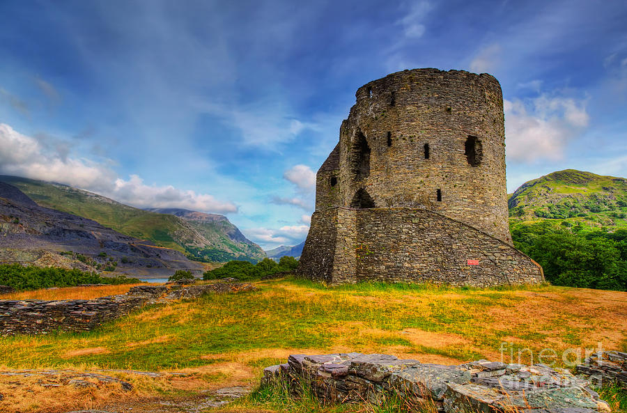 Castle Photograph - Dolbadarn Castle  by Adrian Evans