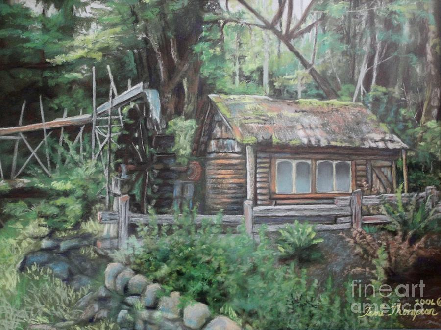 Water Painting - Dolby Water Wheel by Terri Thompson