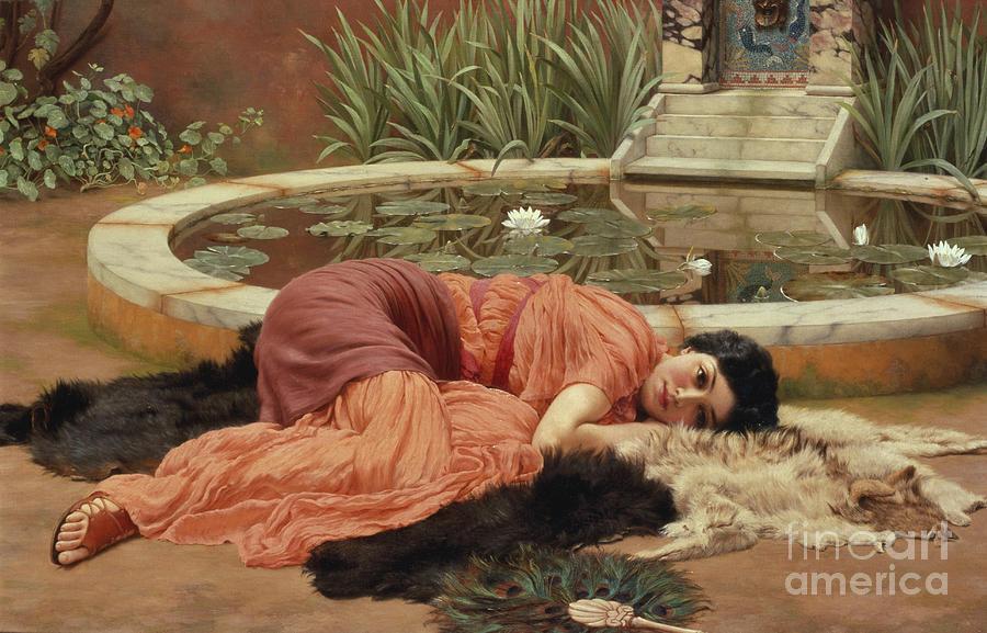 John William Godward Painting - Dolce Far Niente by John William Godward