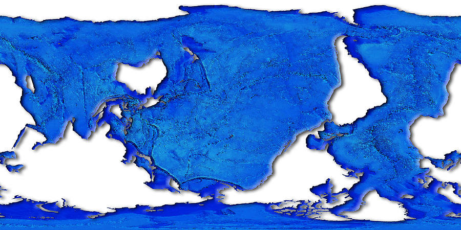 Map Digital Art - Dolphin World Map by Frans Blok