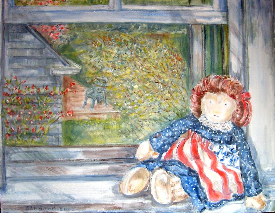 Still Life Painting - Doll In Window 2 by Joseph Sandora Jr