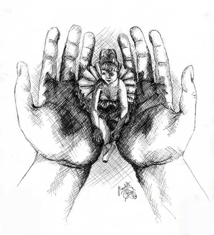 Hands Drawing - Doll Of Memories Past by Scarlett Royal