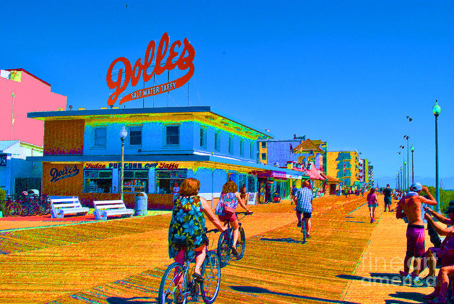 Rehoboth Painting - Dolles Wheels by Jost Houk