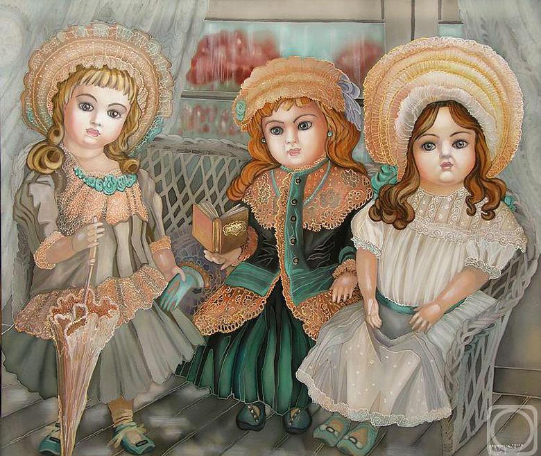 Impressionism Painting - dolls by  Sokolova Nadezhda