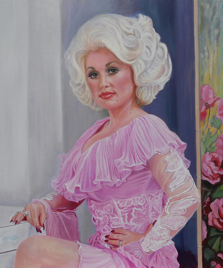 Dolly Parton Painting - Dolly Heartbreaker by Maria Modopoulos