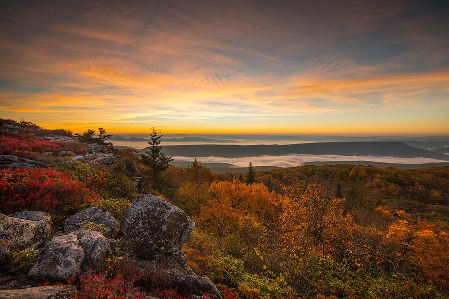Dolly Sods Wilderness Peak Fall Sunrise by Rick Dunnuck