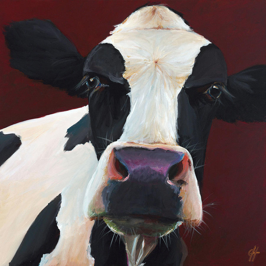Holstein Painting - Dolly The Holstein by Cari Humphry