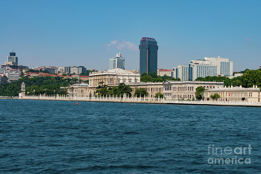 Istanbul Photograph - Dolmabahce Palace On The Bosphorus by Bob Phillips