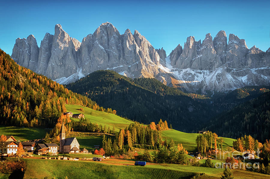 Dolomite village in autumn Photograph by IPics Photography