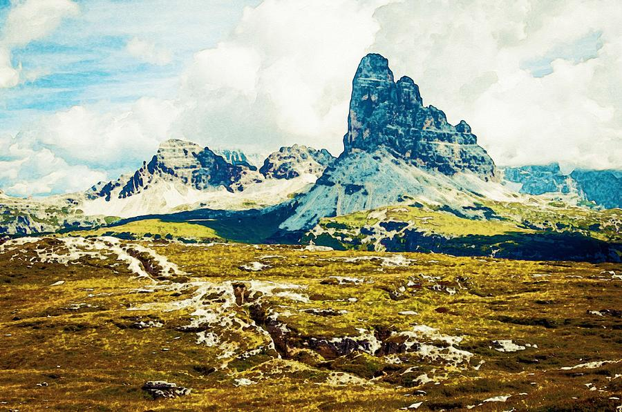 Nature Painting - Dolomites, Monte Piana, Italy by Celestial Images