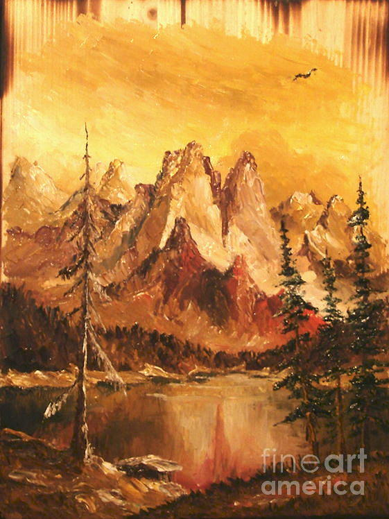 Mountain Painting - Dolomiti by Sorin Apostolescu