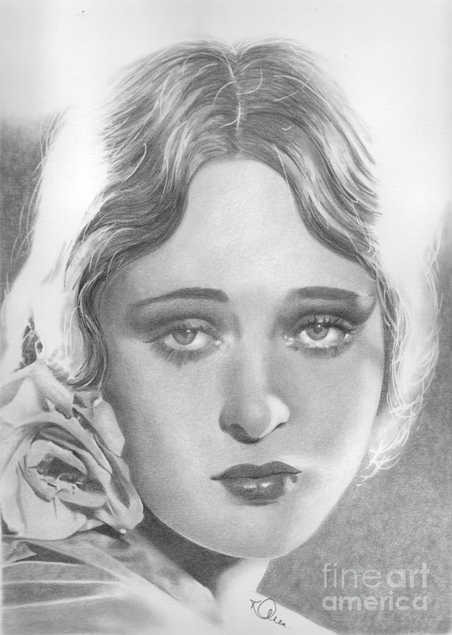 Dolores Costello Drawing - Dolores Costello by Karen Townsend