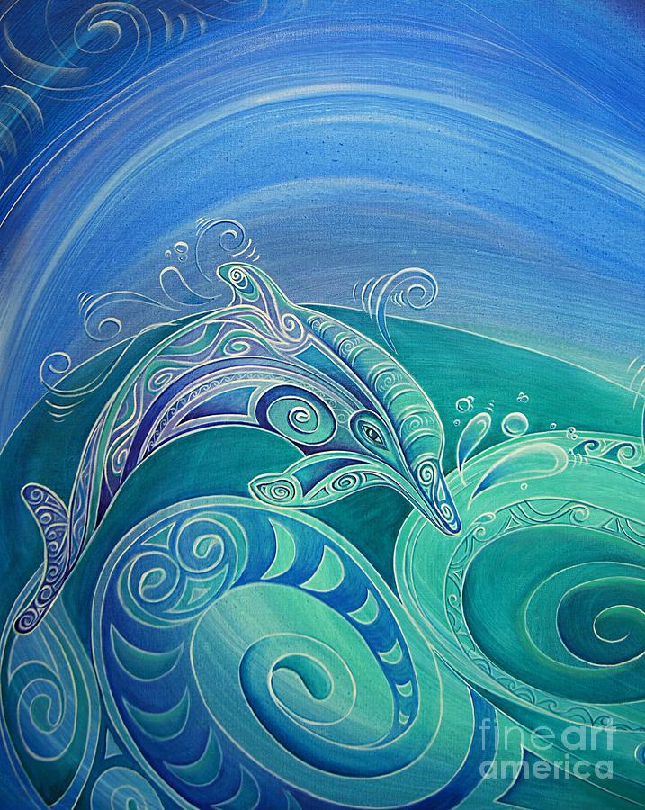 Dolphin Aroha by Reina Cottier