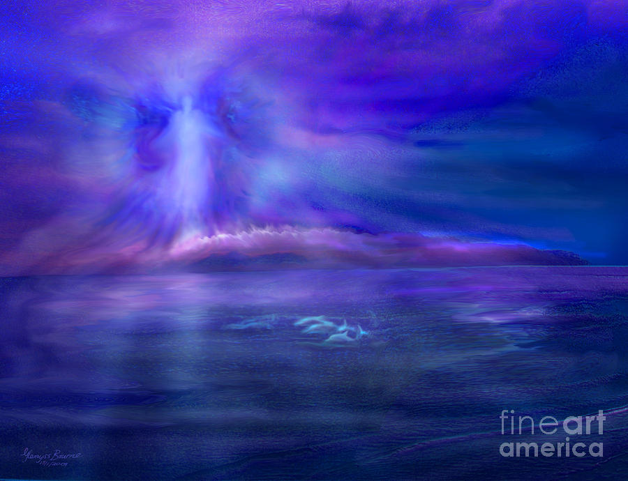 Dolphins Painting - Dolphin Dreaming by Glenyss Bourne