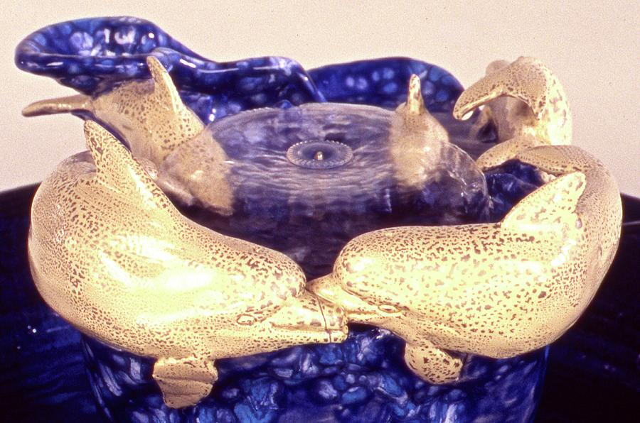Dolphins Ceramic Art - Dolphin Family by Frederick Dost