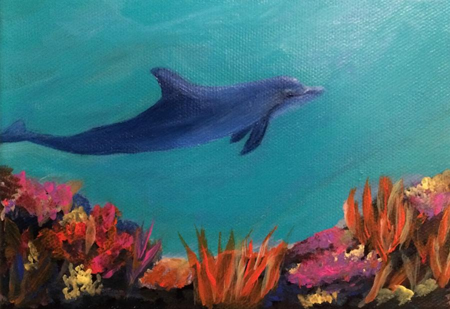 Dolphin Painting - Dolphin  by Glenda Collins