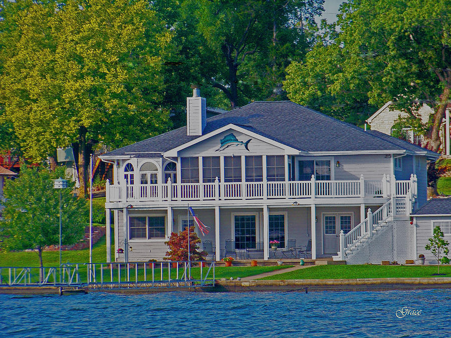 Lake Photograph - Dolphin House by Julie Grace