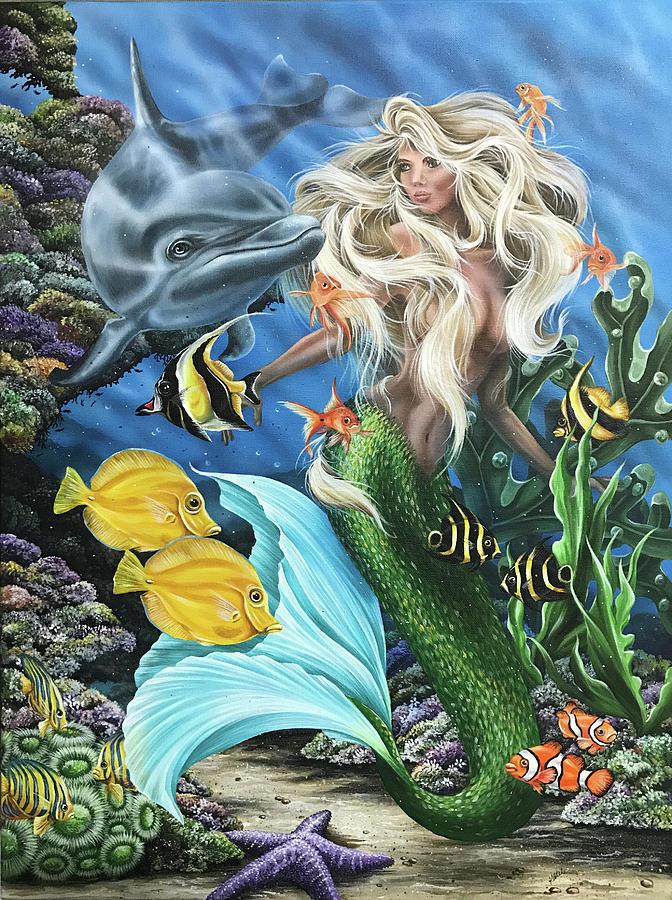 Dolphin Mermaid by Katie McConnachie