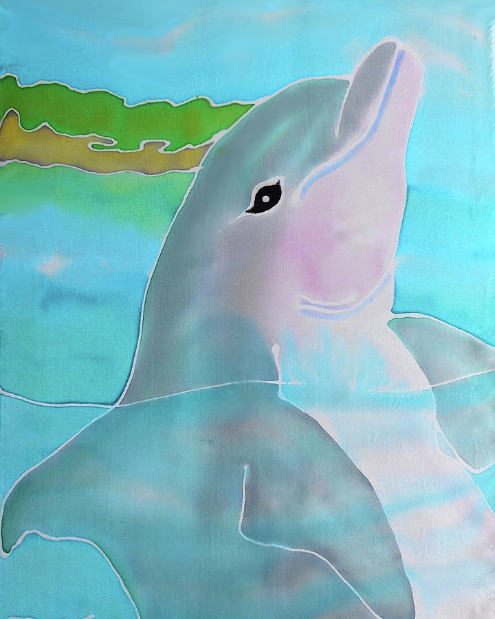 Bahamas Painting - Dolphin Smile by Tiff