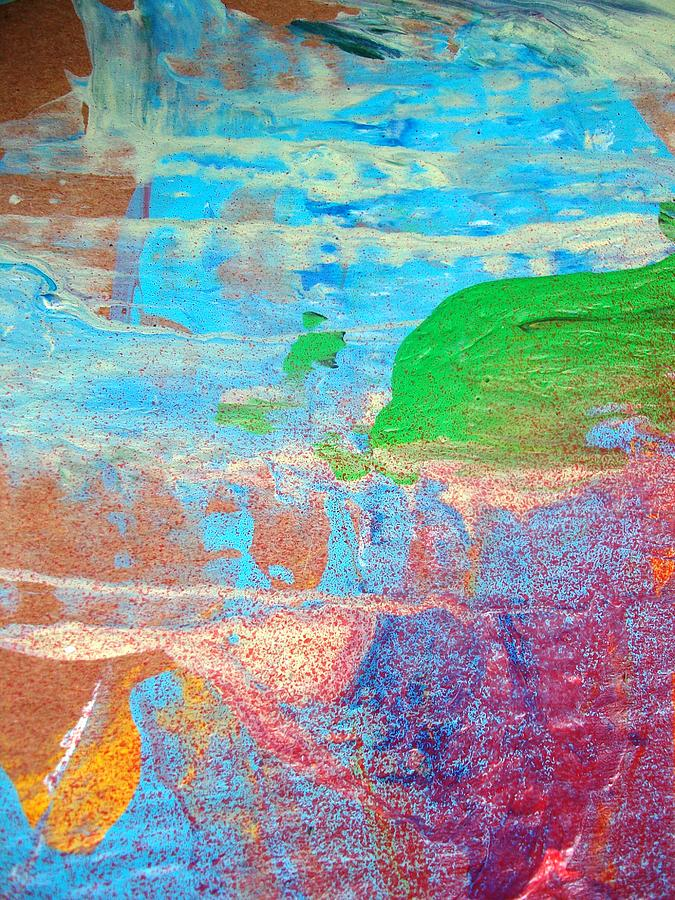 Abstract Painting - Dolphins Should Not Die Green by Bruce Combs - REACH BEYOND