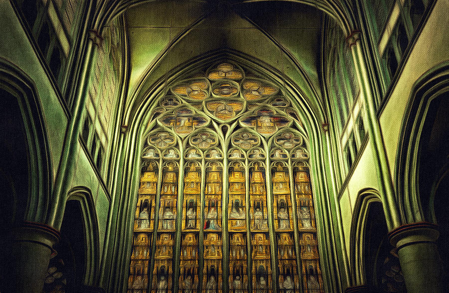 Dom Church Cathedral Gothic Style Art Painting By Wall