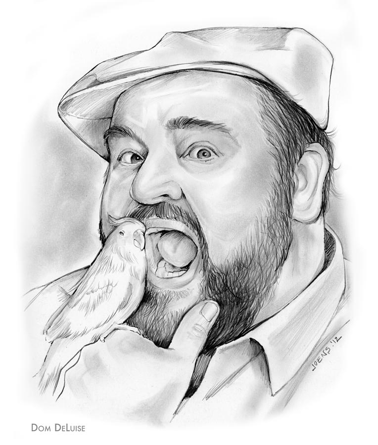 Dom Deluise Drawing - Dom DeLuise by Greg Joens