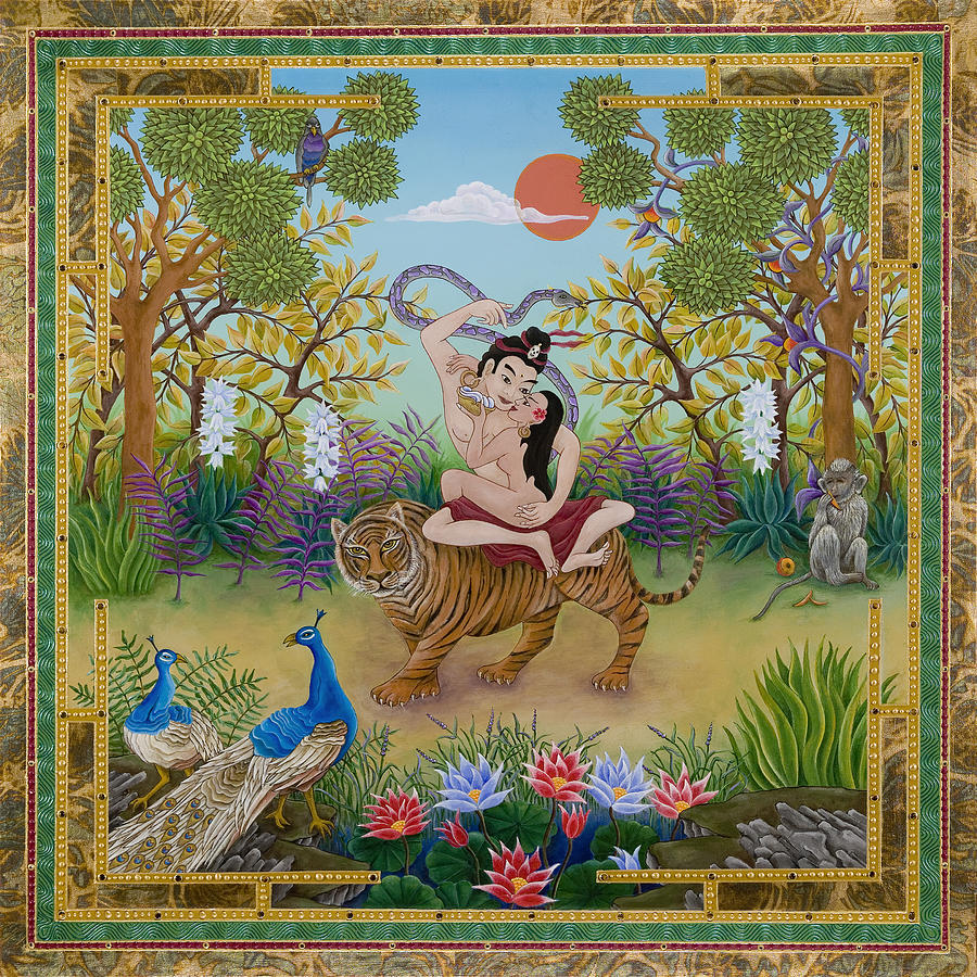Dombi and the Dakini Painting by Nadean OBrien