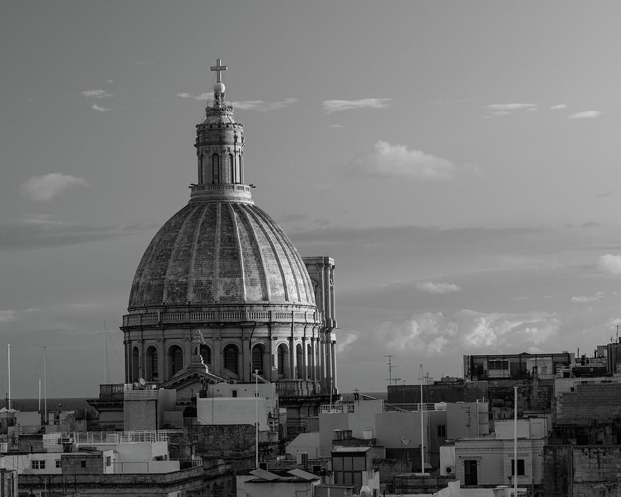 Malta Photograph - Dome of Our Lady of Mount Carmel in Valletta, Malta by Dalibor Hanzal