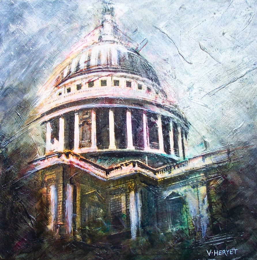 St. Paul's Painting - Dome Of Saint Pauls by Victoria Heryet
