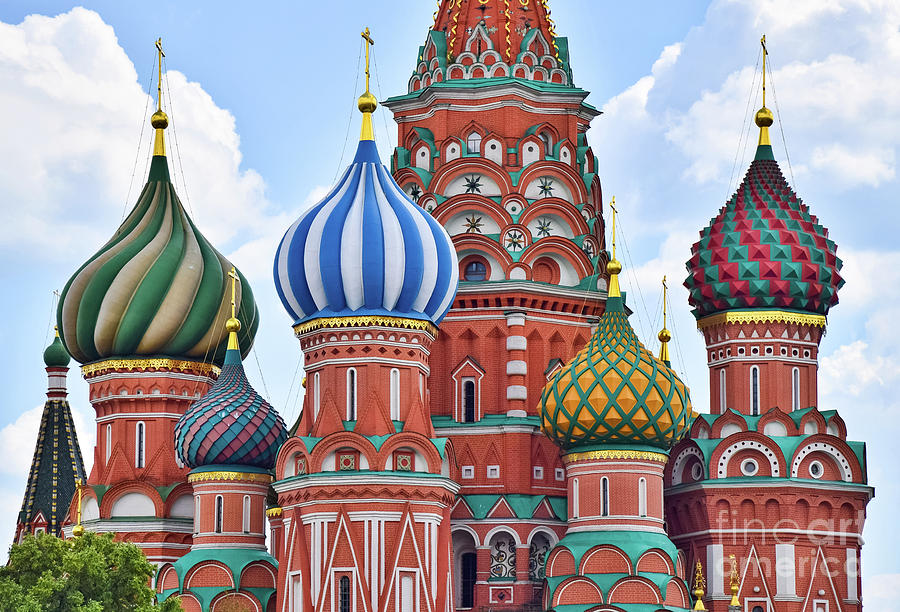 Moscow Photograph - Domes Of St. Basil by Steven Liveoak