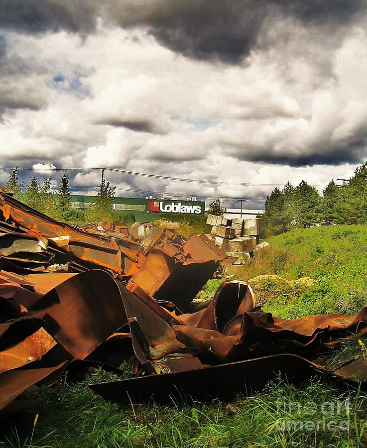 Landscape Photograph - Domfer Deconstruction Twisted Metal by Reb Frost