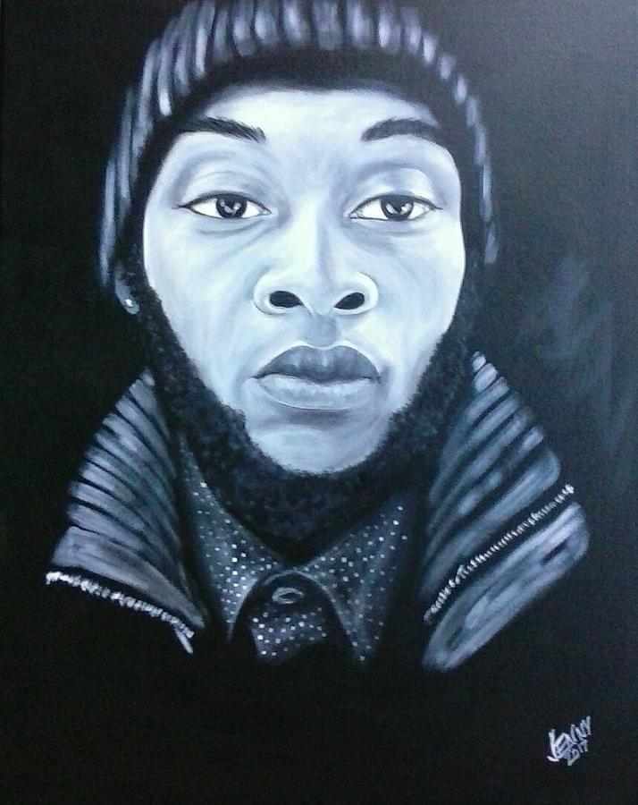 African-american Men Painting - Dominic by Jenny Pickens
