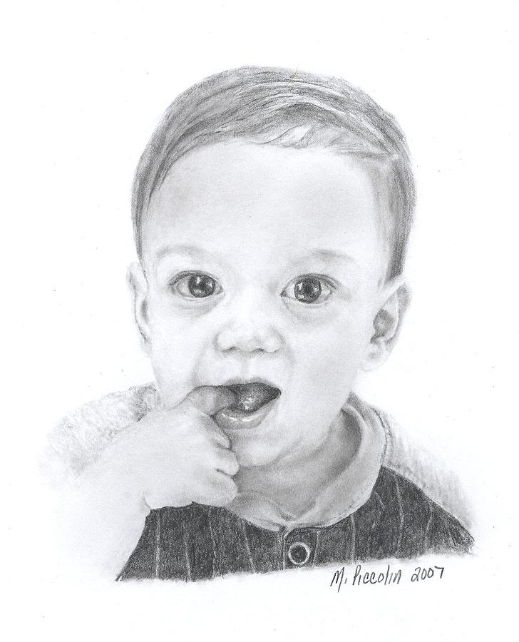 Baby Drawing - Dominic by Marlene Piccolin