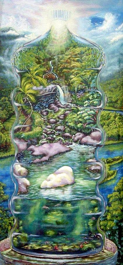 River Painting - Dominica Water by Lowell Royer