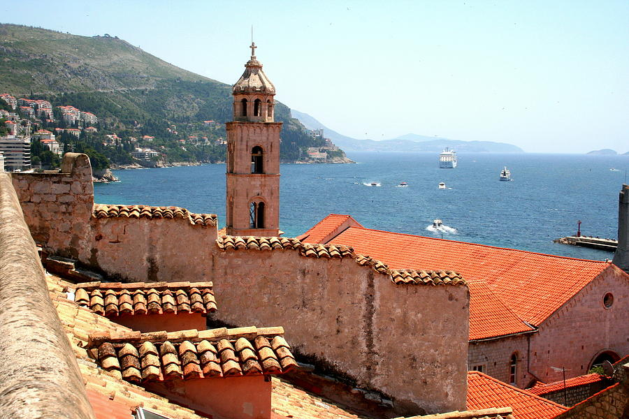 Dominican Church overlooking Dubrovnik's Harbor by Laurel Talabere