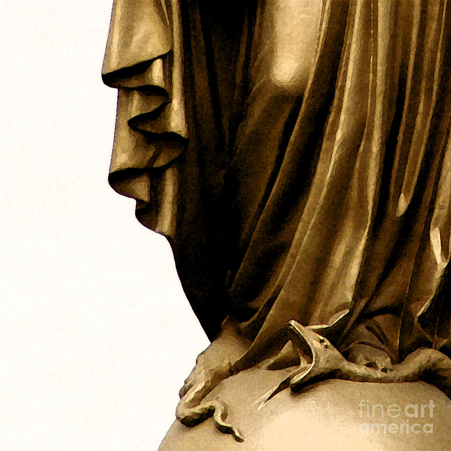 Statue Photograph - Dominion Over The Serpent by Linda Shafer