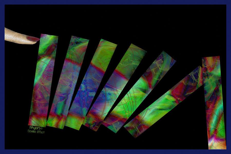 Paula Digital Art - Domino Effect by Paula Ayers