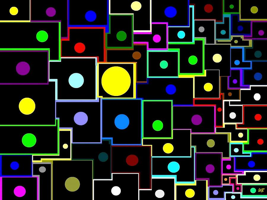 Abstract Digital Art - Domino Effect  by Will Borden
