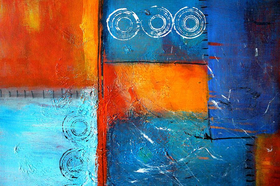 Large Painting - Domino by Nancy Merkle