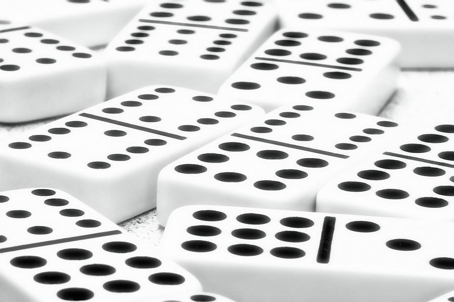 Dominoes Photograph - Dominoes I by Tom Mc Nemar