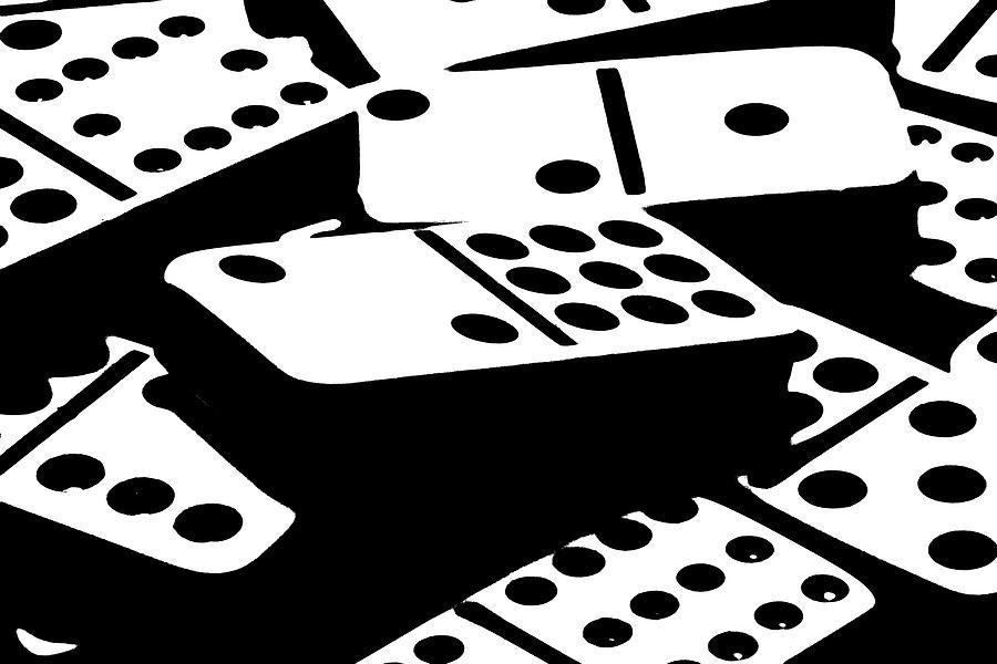 Dominoes Photograph - Dominoes IIi by Tom Mc Nemar