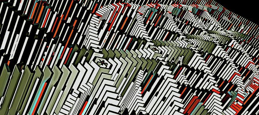 Dominos Digital Art - Dominos by David BERNARD