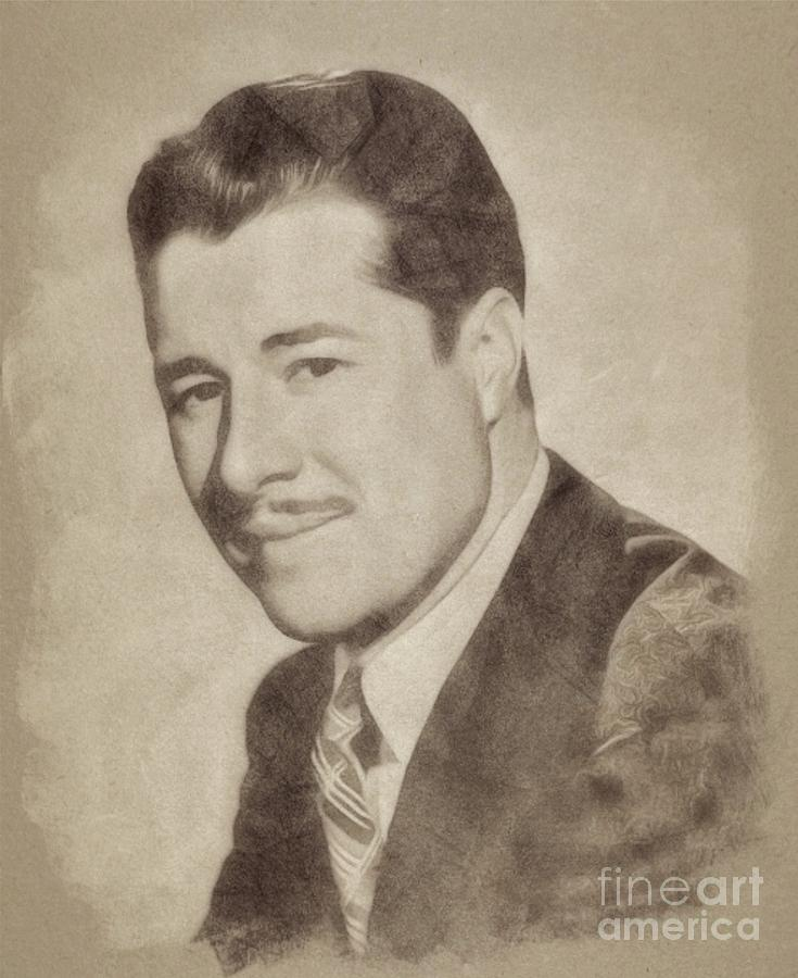 Don Ameche, Vintage Hollywood Actor Drawing