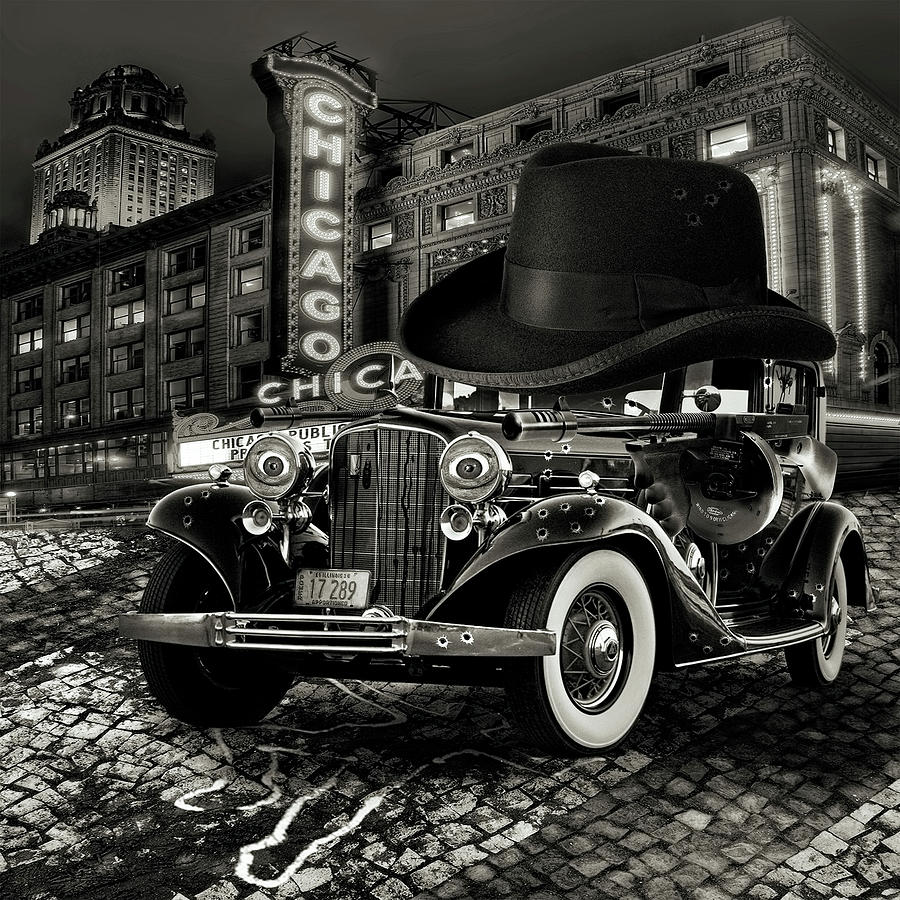 American Digital Art - Don Cadillacchio Black And White by Marian Voicu