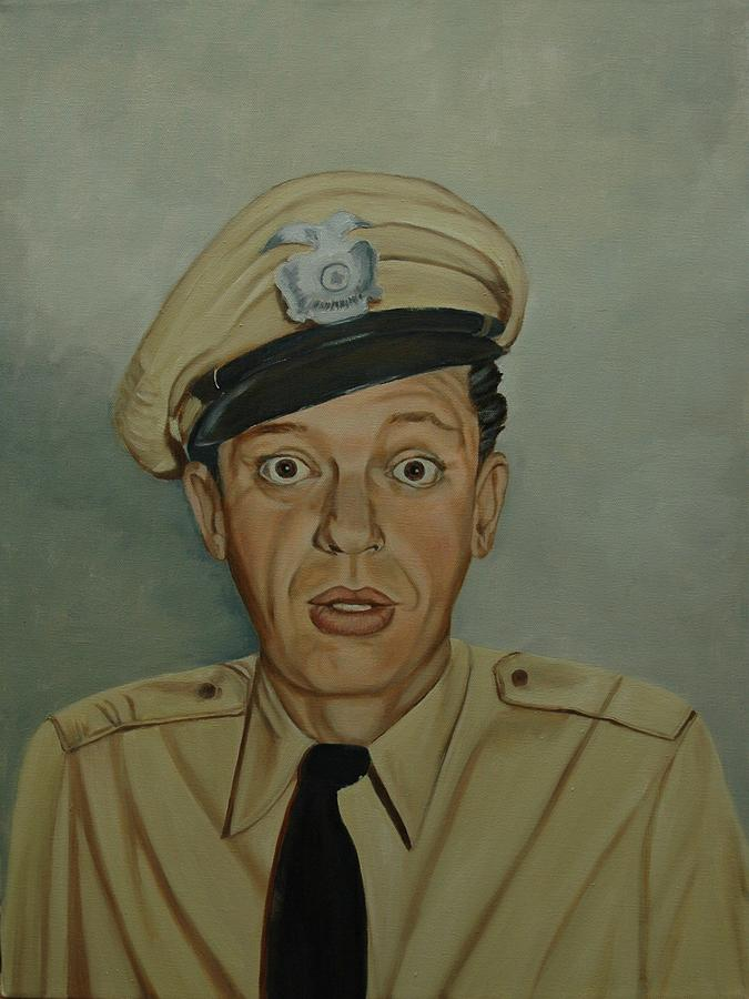 Barney Painting - Don Knotts As Barney Fife by Tresa Crain